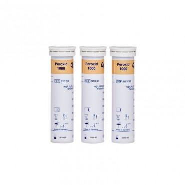 3x Sanosil Teststreifen (0-1.000 mg/l H2O2), Dose mit 100 St