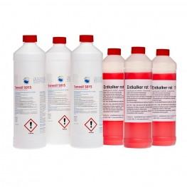 Sanosil S015, 3x 1 kg plus 3x 0.75 l Entkalker